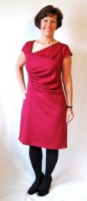 Red ponte knit dress - Lekala 4060